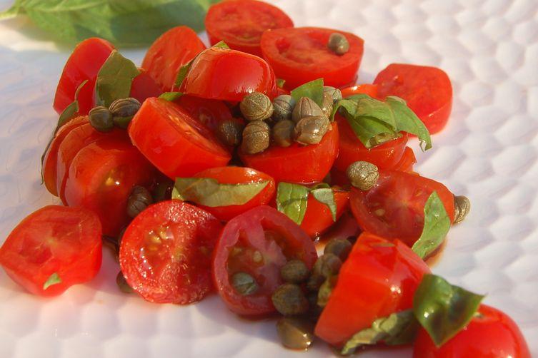 Tomato, Caper and BasilSalad 1