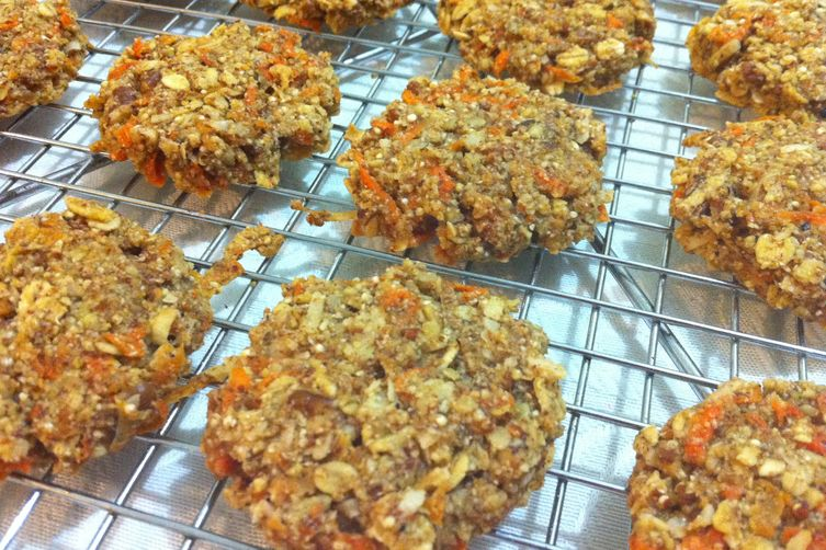 Olive oil red quinoa carrotcookies. 1