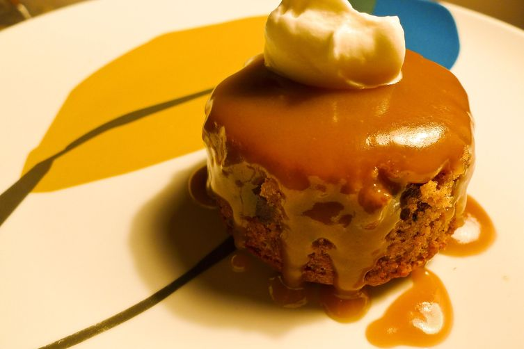 Individual Guinness Sticky Toffee Puddings with GingerCream
