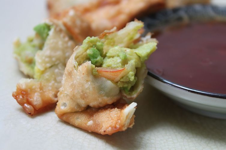 Shrimp and Avocado Rangoons with Grapefruit Sweet and Sour DippingSauce 1