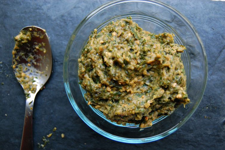 Roasted Kale and Eggplant Tapenade 1