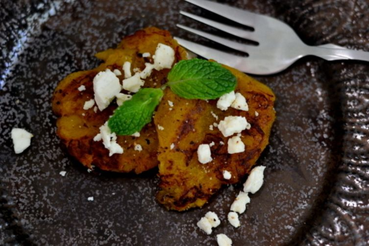Pan fried Plantain with crumbled Feta 1