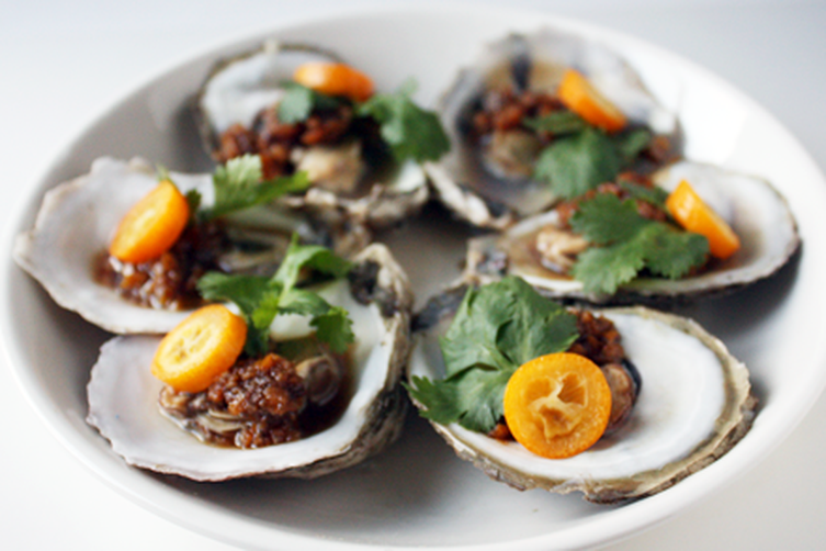 Steamed Oysters with Tangerine Peel Sauce (?????) 1