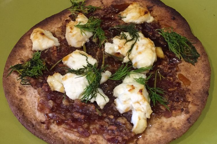 Goat Cheese and DateFlatbreads