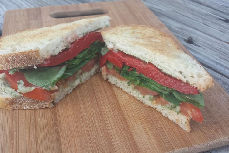 Cannellini Bean & Roasted Red Pepper Sandwich 1
