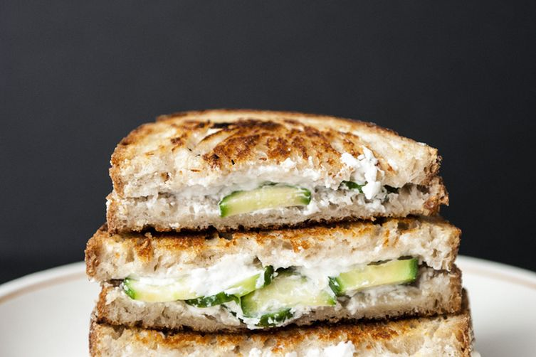Cucumber Goat Cheese GrilledCheese