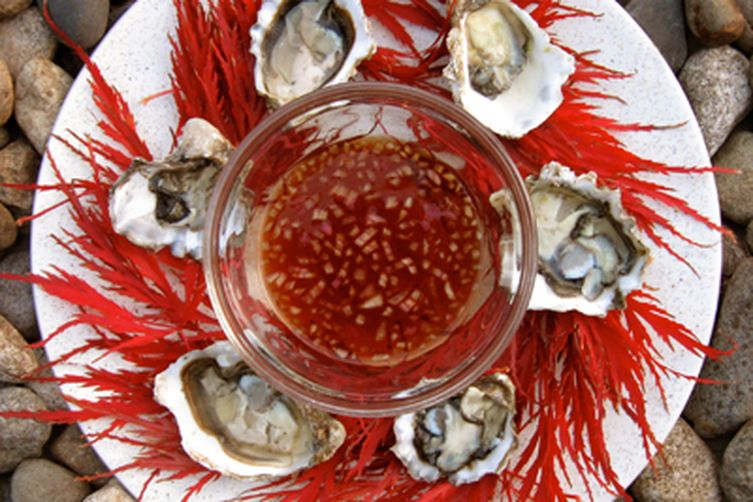Oysters with RedMignonette 1