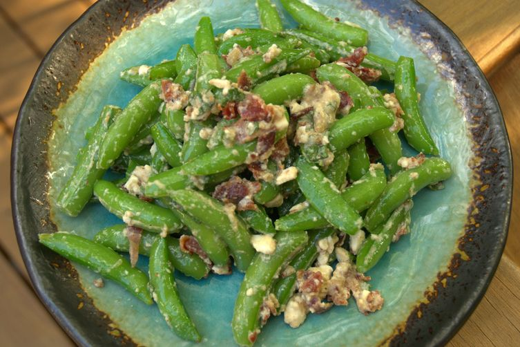Sugar Snaps with Bacon, Maple, Feta andMint 1