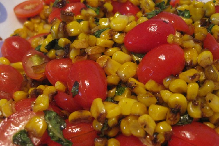 Quick Roasted Corn and Tomato Salad 1