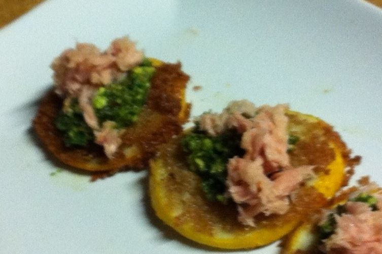 Tuna with Salsa Verde and Fried Meyer Lemons 1