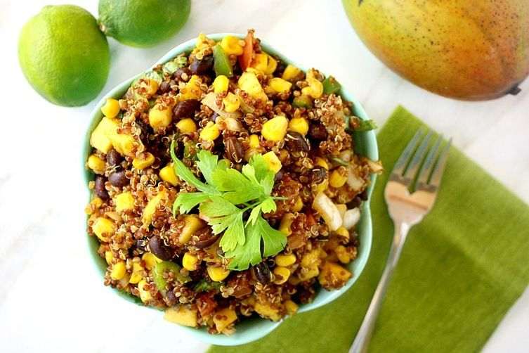 Red Quinoa and Mango Salad with LimeDressing 1