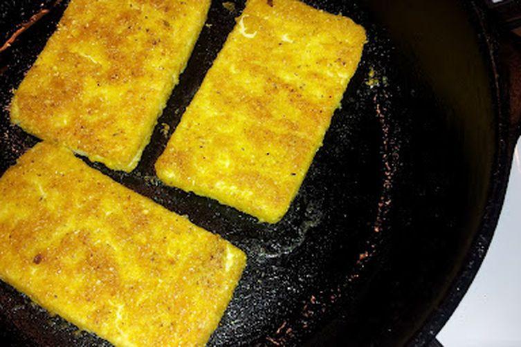 Fried Tofu Sandwich, CornmealBreading 1