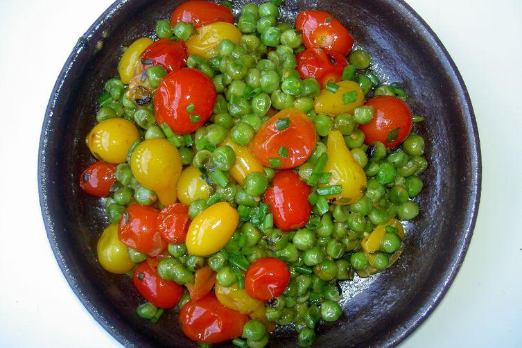 Fresh Heirloom Cherry Tomatoes andPeas