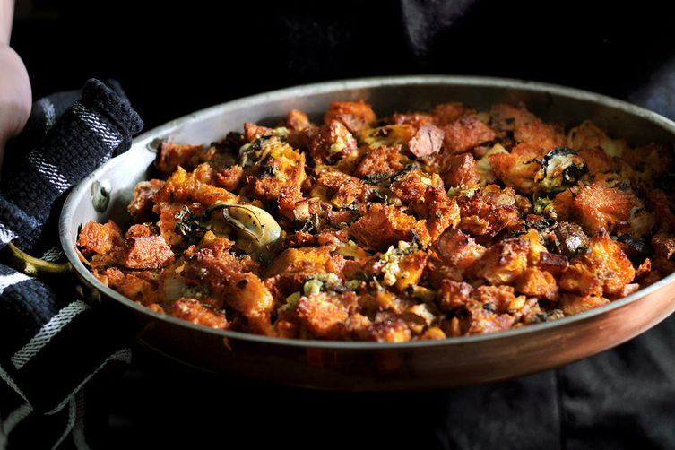 Red hot Oyster and Kimchi Stuffing 1
