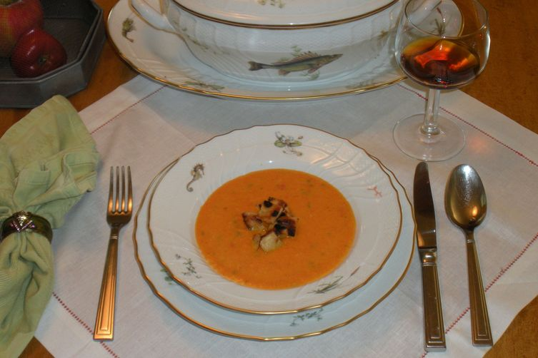 """""""Why am I not in Gascony the week after Labor Day?"""" Carrot and Red PepperSoup 1"""
