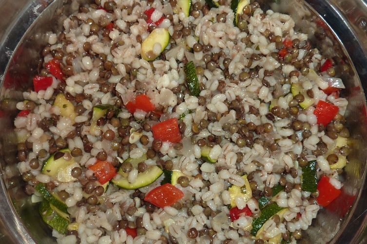 French Lentil and Barley SummerSalad