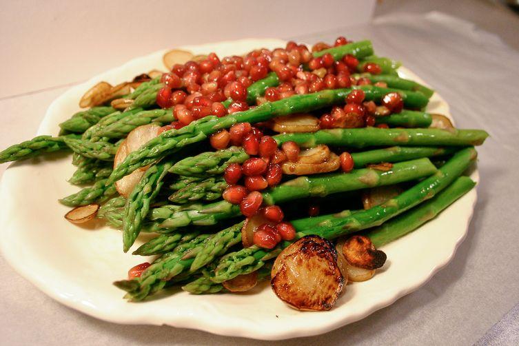 ASP - asparagus, sunchokes, pomegranateseeds 1