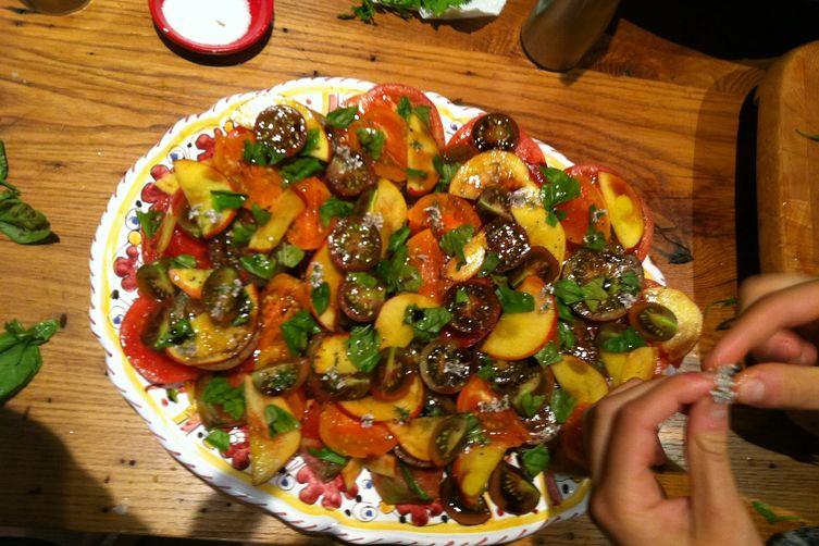 Tomato PeachSalad