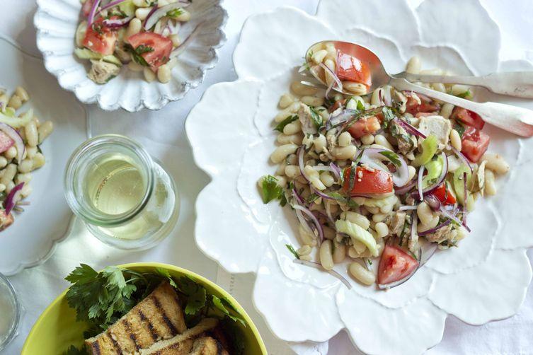 Quick White Bean Salad With Tuna (insalata di fagioli e tonneveloce) 1