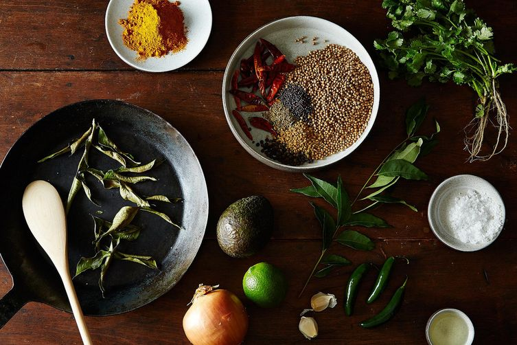 Julie Sahni's Curried Avocado with Garlic and GreenChiles