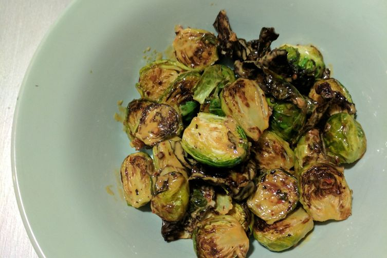 brussel sprouts with kewpie mayo sauce