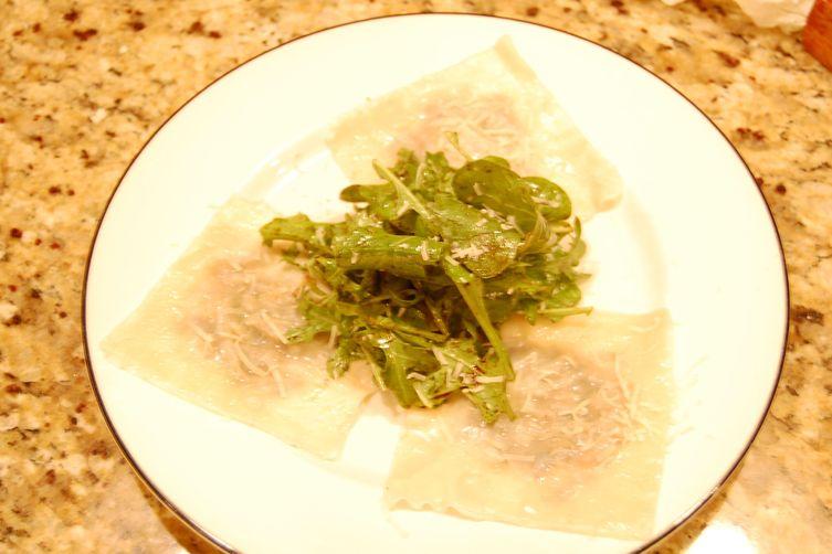 """Truffled Wild Mushroom Ravioli""""Salad"""" 1"""