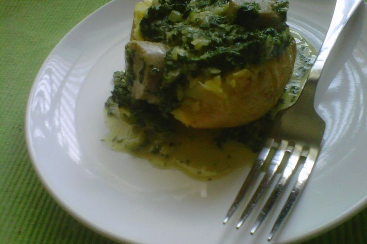Creamed Spinach and GarlicScapes 1