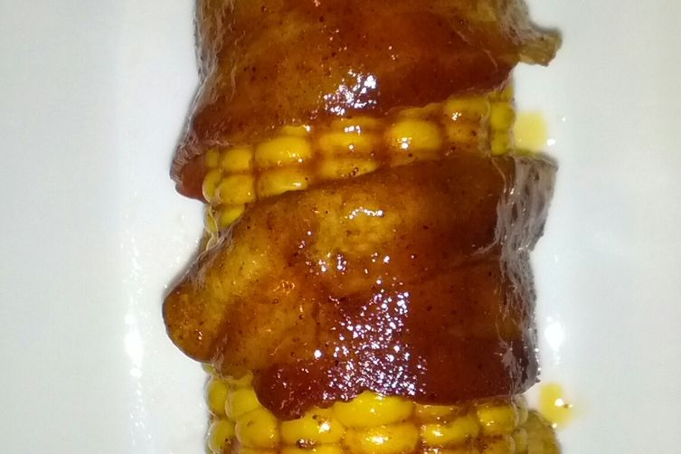 Bacon Wrapped BBQ Corn 1