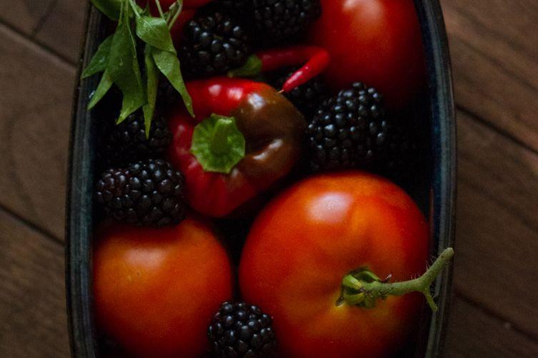 Summer's End Tomato BlackberrySalsa