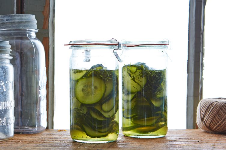 Quick Cucumber and Shiso Pickles 1