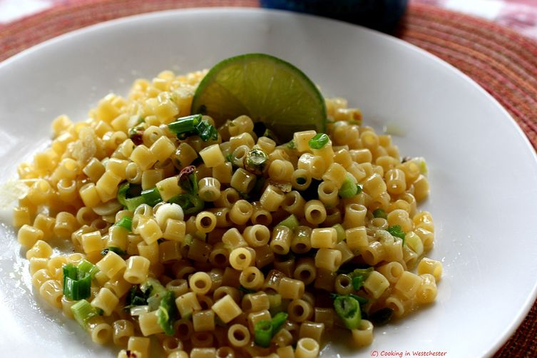Green Garlic, Brown Butter and LimePasta 1