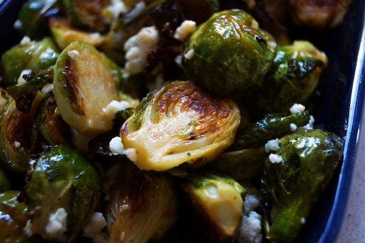 Spicy Roasted Brussels Sprouts with BlueCheese 1