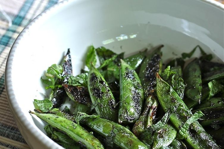 Smokey Grilled Minty SnapPeas 1