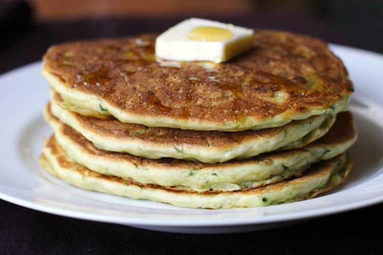 Lemon Zucchini Pancakes with a Heart of Brie 1