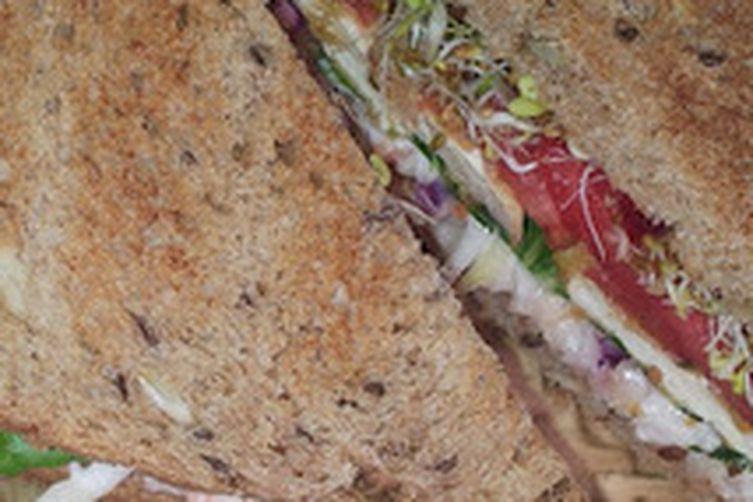 Fried Tofu Sandwich, CornmealBreading
