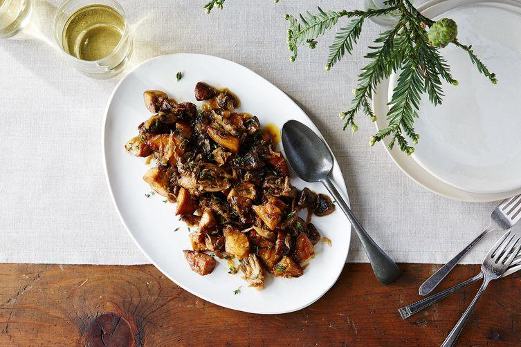 Mushrooms With Caramelized Shallots & FreshThyme 1