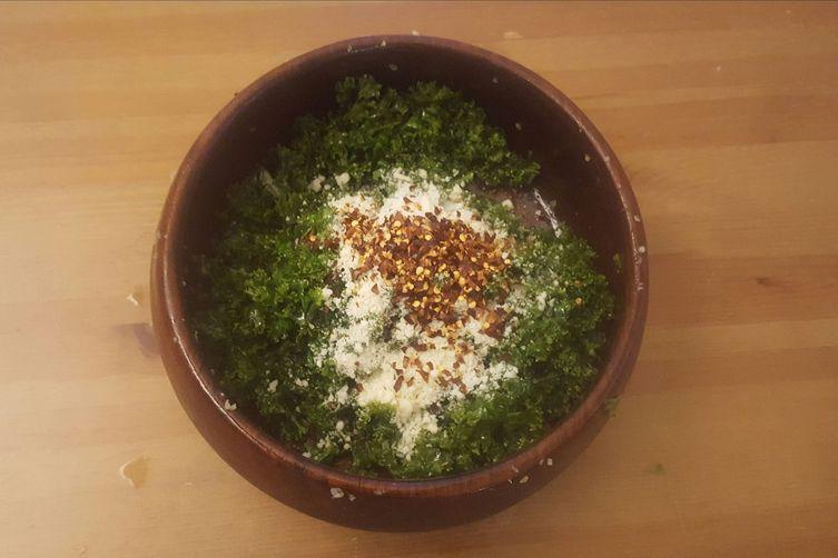 Easy Garlicky KaleSalad