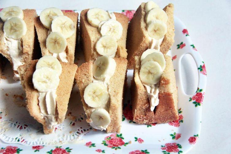 Kinako Banana Chiffon CakeSandwiches 1