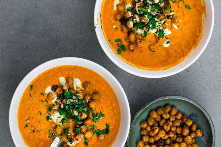 vegan oven roasted harissa carrot - tahinisoup 1