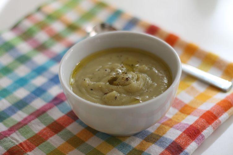 Velvety Leek, Potato & Jerusalem Artichoke Soup(dairy-free) 1