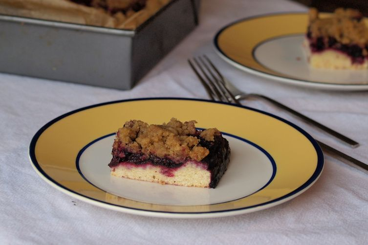 Blueberry cornmeal brown butter crumb bars (whew, what amouthful) 1