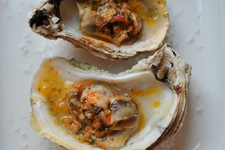 Grilled (or Broiled) Oysters with a Sriracha LimeButter 1
