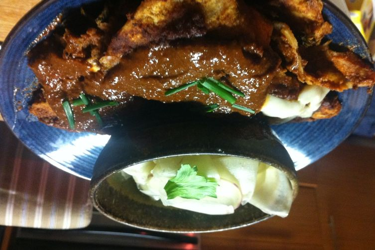 Drowned Enchiladas in Mole with Coffee andWalnuts 1