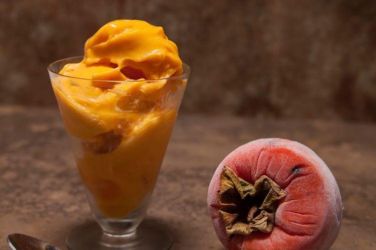 Persimmon Ice Cream. No Dairy, No Sugar, No Time. Fast FastFast!