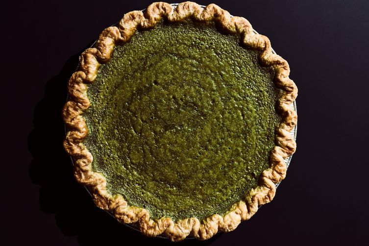 Four & Twenty Blackbirds Matcha Custard Pie 1