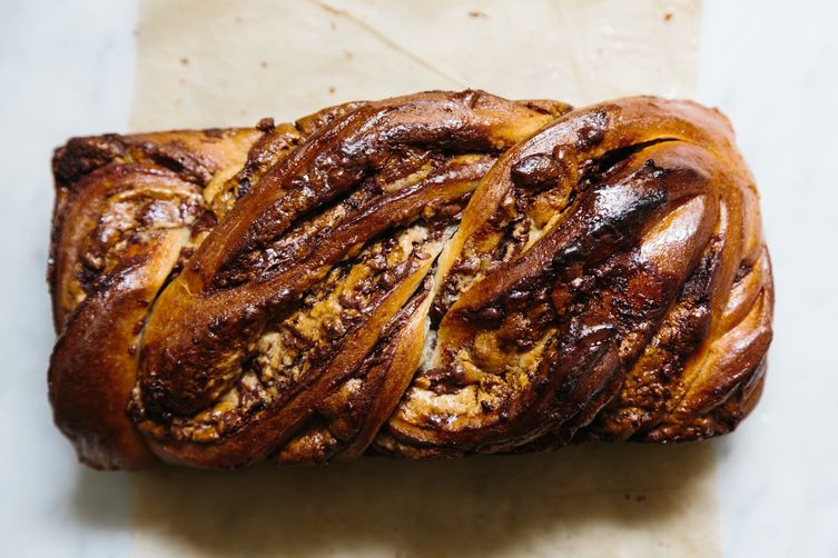 Halvah and Nutella Babka 1