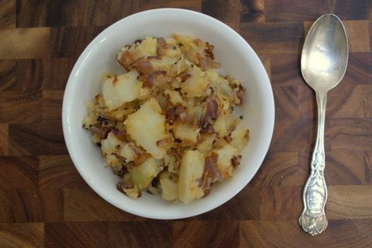 Smashed potatoes with Caramelizedonions 1