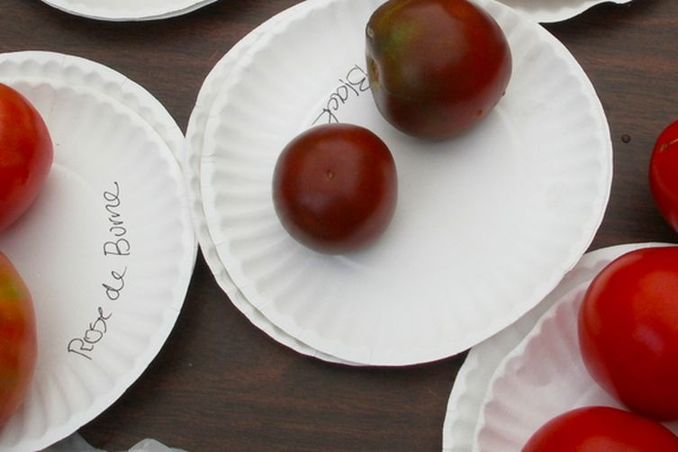Iced Heirloom Tomato Lassi with Fennel, Orange Zest, and LavenderHoney