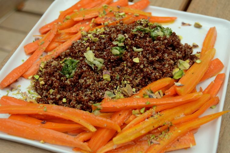 Red Quinoa with Honey-Glazed Carrots, Thyme Pistou and Pistachios 1