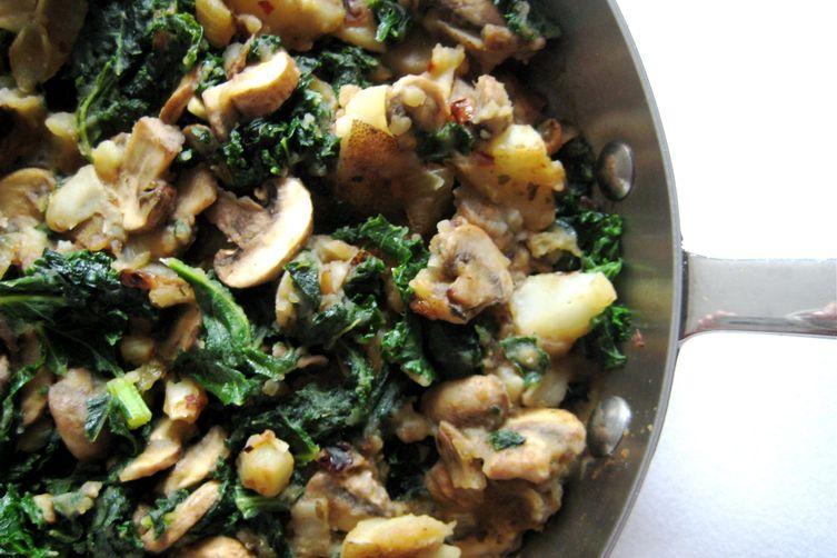 Kale, Potato, and MushroomSkillet 1